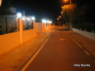 Boundary wall at night showing lighting